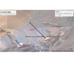 محدوده معدنی ثبت شده سنگ تراورتن سفید و کرم در استان کرمان