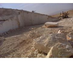 معدن مرمریت کرم رنگ چاه ملک خور و بیابانک اصفهان